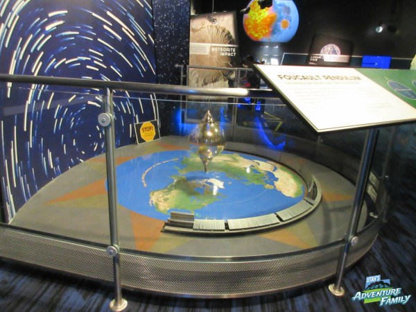 The pendulum is still at the planetarium. We were glad!