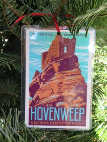 Hovenweep Postcard Ornament at the 2016 Monticello Fesival of the Trees