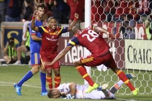 Joao Plata celebrates Real Salt Lake goal by Chris Schueler