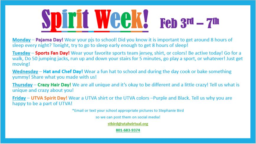 School Spirit Week!!