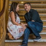 wedding engagement photos utah state capitol