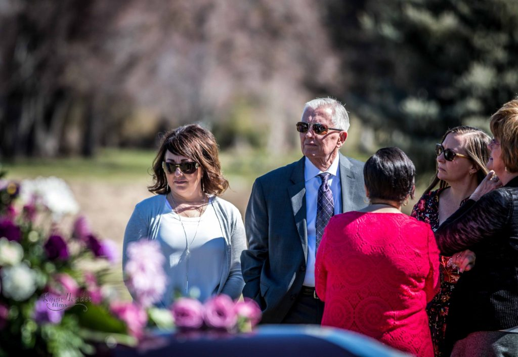 sad aunt and uncle Wasatch lawn salt lake city cemetery photography for funerals Ryan hender films