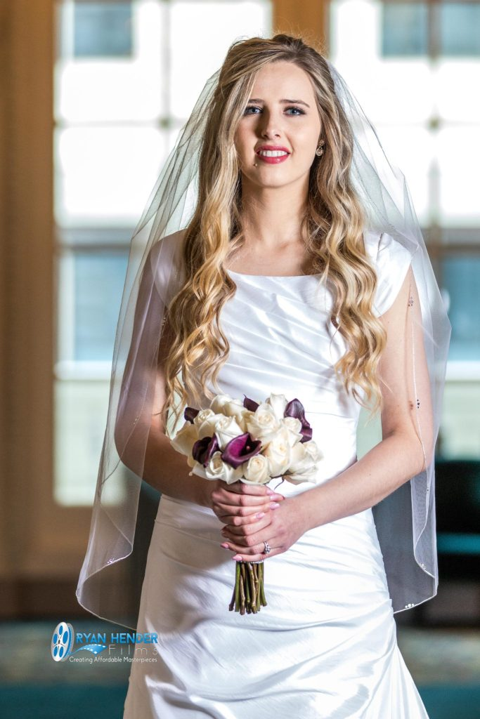 bride holding bouquet wedding photography