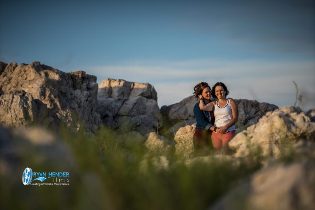 engagements photography antelope island state park utah