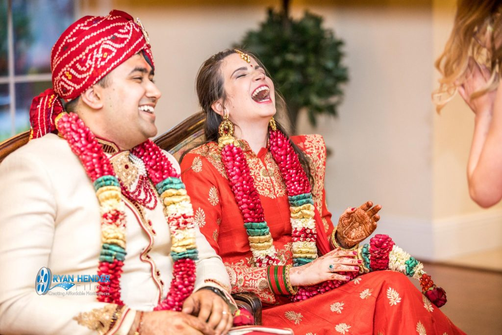 indian bride and groom wedding utah