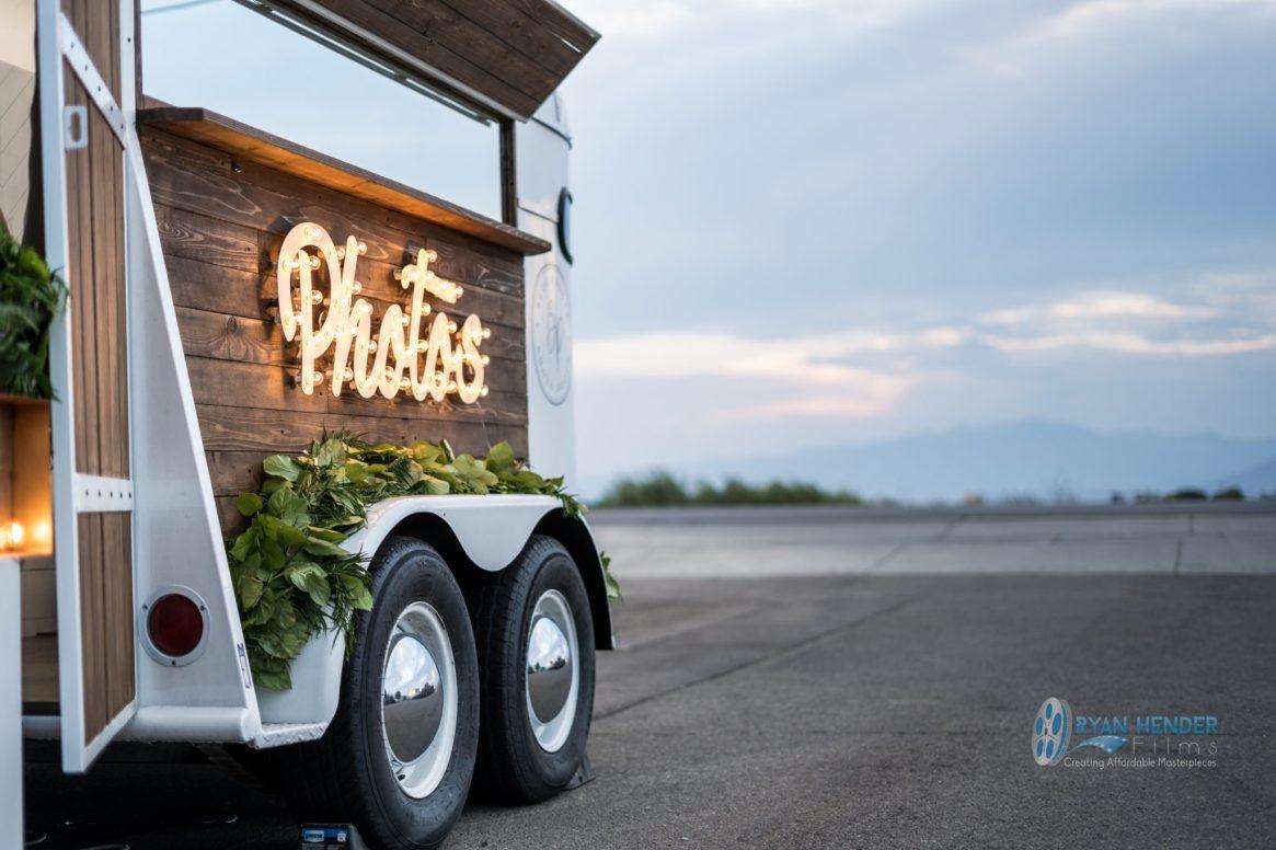 wedding photo booth horse trailer utah