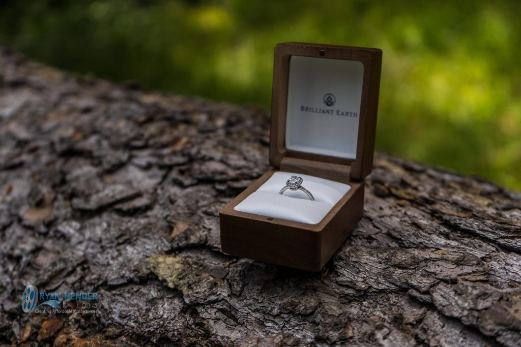 wedding ring on log wedding photography draper utah temple