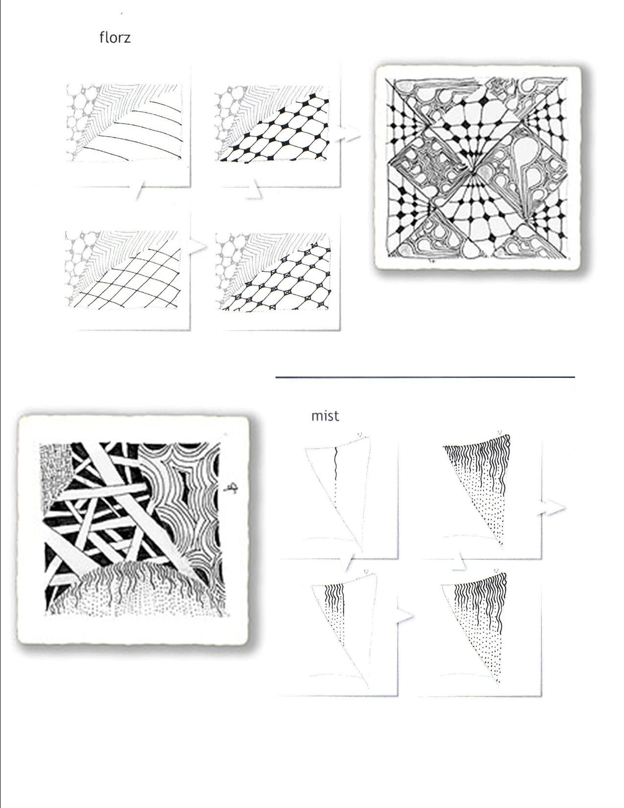 Blank Zentangle Pattern Worksheet