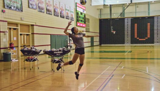 V-ball player tries out for national team