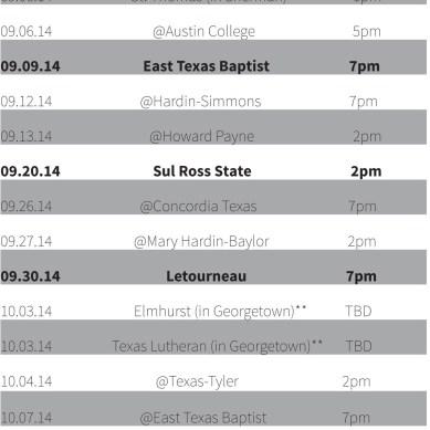 Season Schedules
