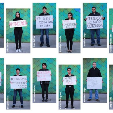 SUPPORT FOR MEXICO'S VANISHED STUDENTS