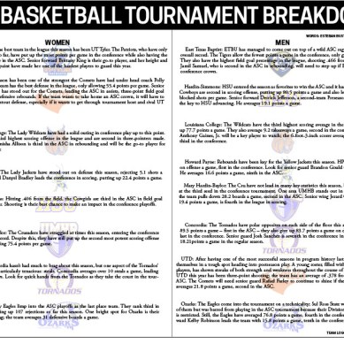 ASC Basketball Tournament Breakdown