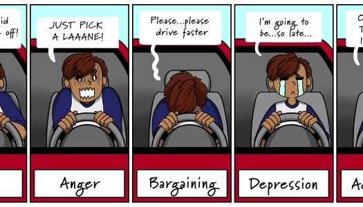 5 stages of road rage