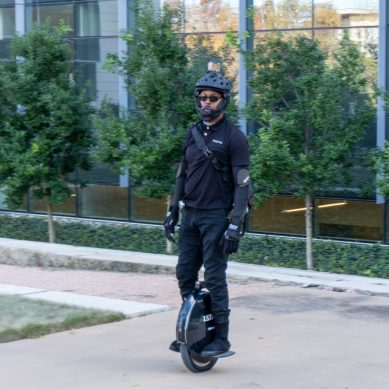 Veteran uses unicycle for eco-friendly transport