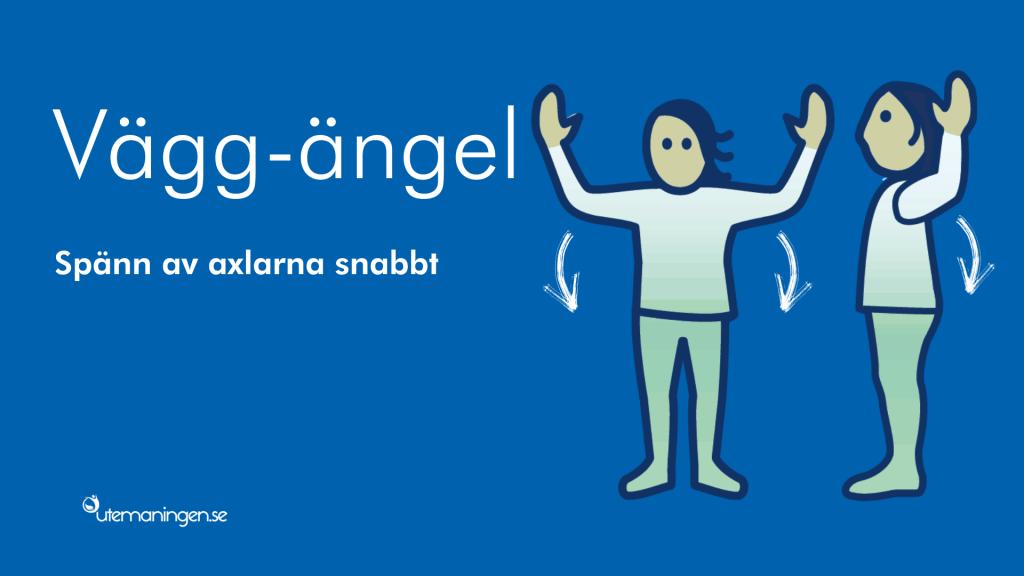 Vägg-ängel, en skön pausövning för axlarna.