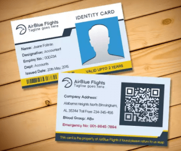 There are a variety of state id cards available. 10 Free Employee Id Card Design Templates Mockups Utemplates