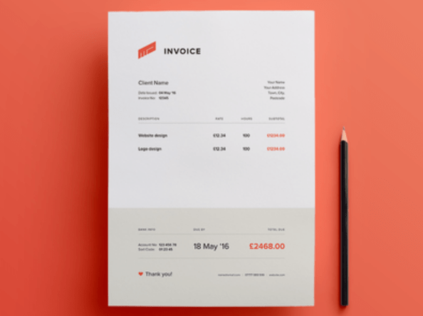 invoice template psd   Selo l ink co invoice template psd