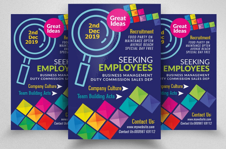 10 of the best recruitment flyers psd