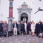 1Tarptautinio projekto KULTURA VISIEM S dalyvių grupė prie Valdovų rūmų.