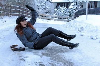 caduta sul ghiaccio
