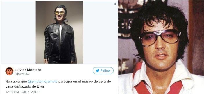¿Ese es Elvis Presley o el profe Pierre Castro saliendo de juerga?