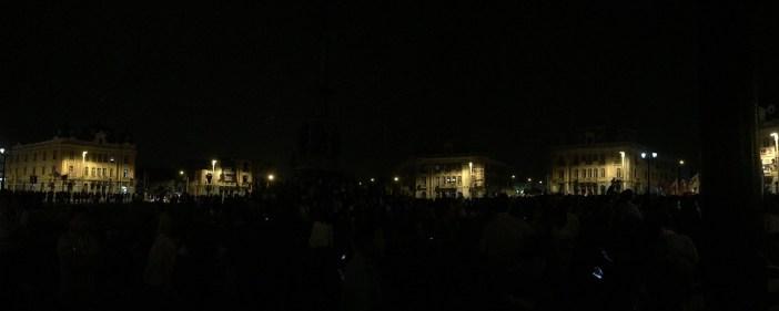 Así estuvo la plaza al final de la marcha. Fuente: Twitter @luisramosdelc