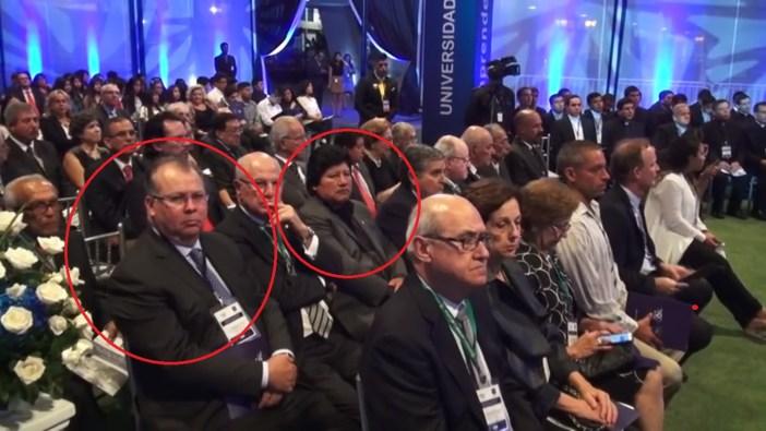 Sí, es el ex abogado de Cipriani y el 'Gordito' Edwin Oviedo, nuevo 'hermanito' de Hinostroza. Imagen: Canal de USIL en Youtube