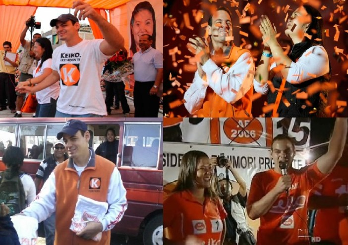 Aquí podemos ver al esposo gringo de Keiko manteniéndose neutral y no inmiscuyéndose en la política peruana.