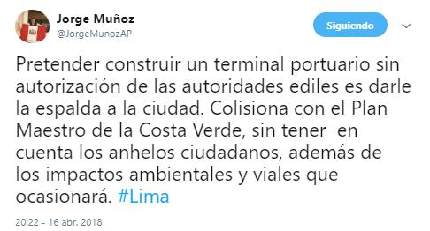 No sean locos pes, dijo Muñoz. Foto: Captura / Twitter