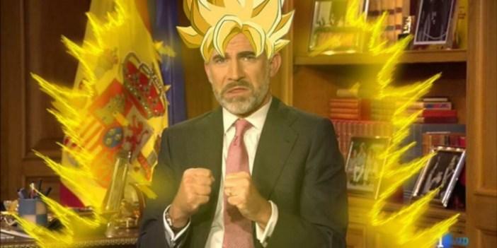 El rey de España convertido en el legendario guerrero que lanza la Onda Vital. Foto: Es un meme