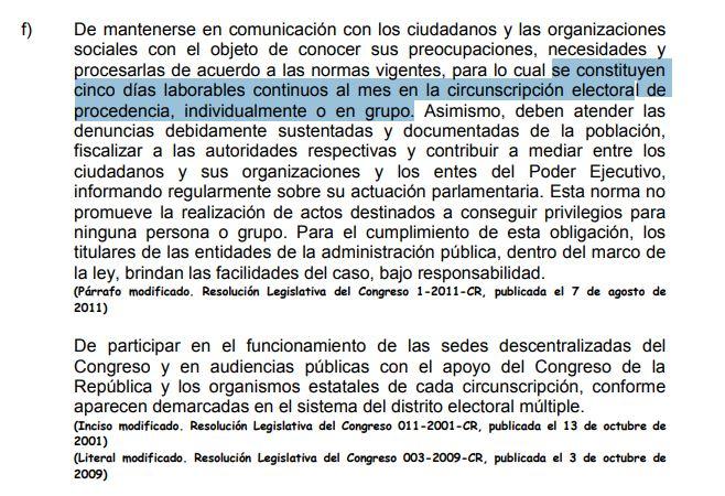 Ahí está más claro que Imagen: Reglamento del Congreso