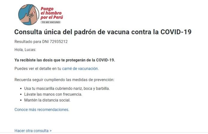 Wow, es un vacunado. Imagen: captura web