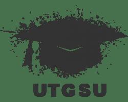 The UTGSU Logo of a graduation cap with 'UTGSU' underneath