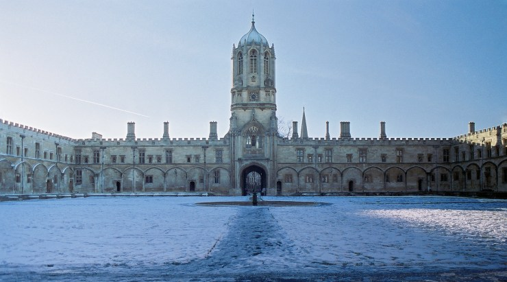 (Tom Quad at Christ Church in Oxford. Photo courtesy of Toby Ord.)