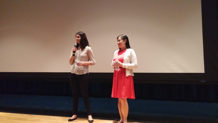 Ellen Martinez (left) and Steph Ching (right) answer questions after the screening of After Spring