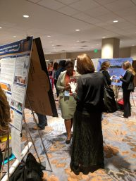 Hanifah Griffith presenting her poster at NCHC.