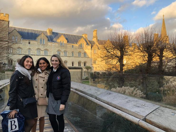 Christine (on left) and Katie (on right) are two of my new close friends who are also from the US. Here we are exploring Pembroke College.