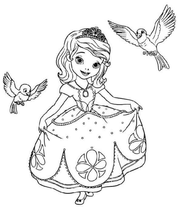 Раскраски Принцесса София