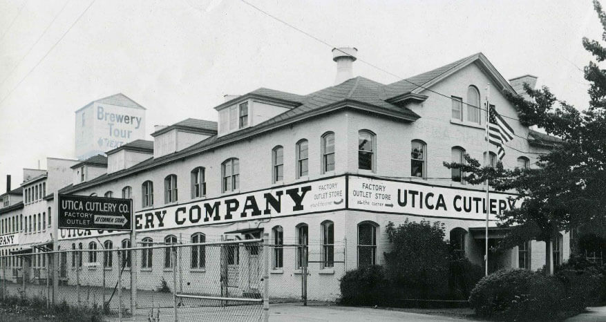 old historical photo of Utica Cutlery headquarters