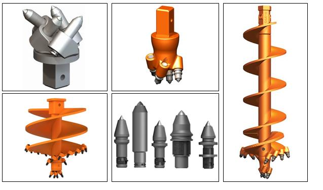 Auger and Auger Attachments for bucket truck parts