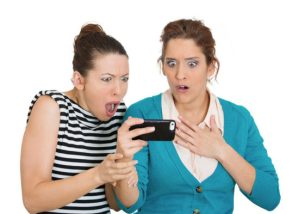 Social Media Viral post, two women shocked Utility events