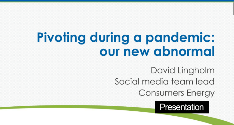 Consumers Energy Social Media Covid 19 response