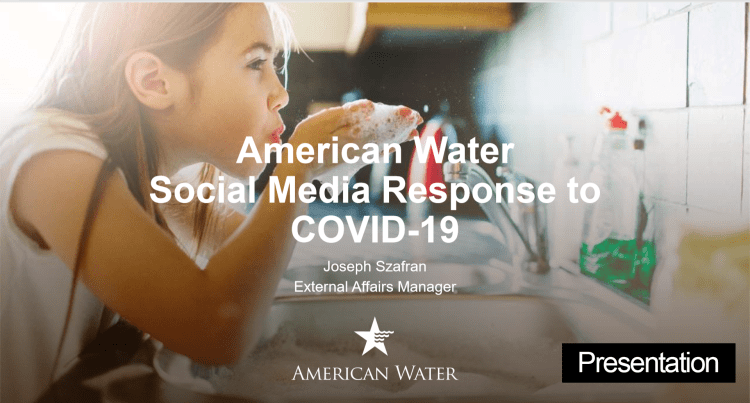 Social Media for Utilities American Water Presentation