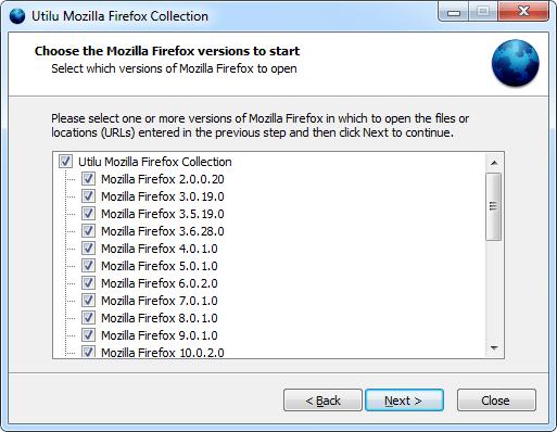 Обслуживает Mozilla Firefox Collection: Выбрать версии