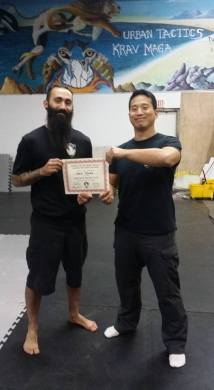 Dave gets certificate