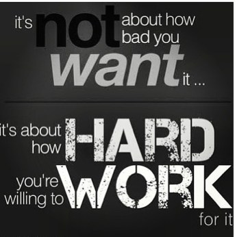 You have to hard work