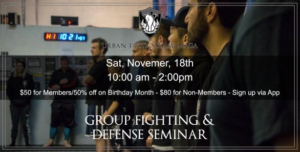 November 18th Group Fighting Seminar