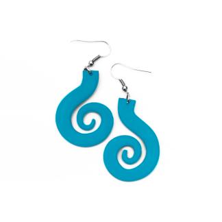 Pendientes Espiral grande turquesa