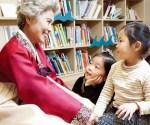 Older Korean Grandma With Children