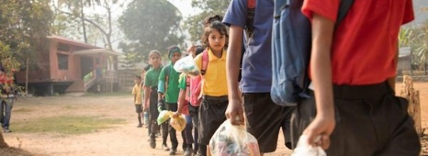 Students pay for school with trash